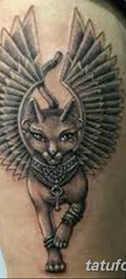 фото тату Кошка с крыльями от 26.06.2018 №068 – Cat tattoo with wings – tatufoto.com