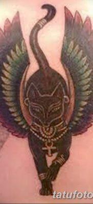 фото тату Кошка с крыльями от 26.06.2018 №070 – Cat tattoo with wings – tatufoto.com