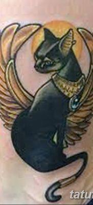 фото тату Кошка с крыльями от 26.06.2018 №072 – Cat tattoo with wings – tatufoto.com