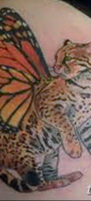 фото тату Кошка с крыльями от 26.06.2018 №073 – Cat tattoo with wings – tatufoto.com