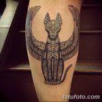фото тату Кошка с крыльями от 26.06.2018 №080 - Cat tattoo with wings - tatufoto.com