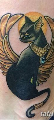 фото тату Кошка с крыльями от 26.06.2018 №085 – Cat tattoo with wings – tatufoto.com