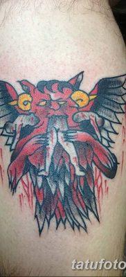 фото тату Кошка с крыльями от 26.06.2018 №087 – Cat tattoo with wings – tatufoto.com