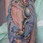 фото тату игуана от 26.06.2018 №005 - tattoo of iguana - tatufoto.com