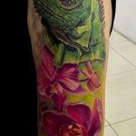 фото тату игуана от 26.06.2018 №017 - tattoo of iguana - tatufoto.com