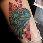 фото тату игуана от 26.06.2018 №057 - tattoo of iguana - tatufoto.com