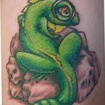 фото тату игуана от 26.06.2018 №117 - tattoo of iguana - tatufoto.com