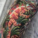 фото тату игуана от 26.06.2018 №124 - tattoo of iguana - tatufoto.com