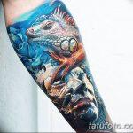 фото тату игуана от 26.06.2018 №142 - tattoo of iguana - tatufoto.com