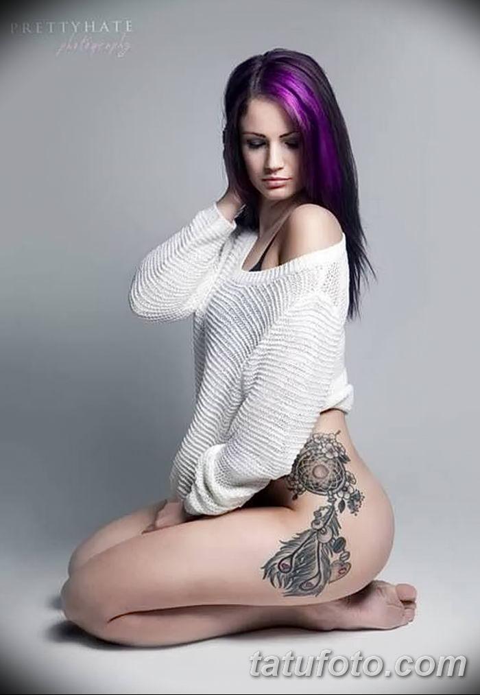 фото тату ловец снов для девушек от 18.06.2018 №067 - tattoo dream catcher - tatufoto.com