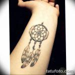фото тату ловец снов для девушек от 18.06.2018 №187 - tattoo dream catcher - tatufoto.com