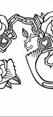 фото тату наручники от 25.06.2018 №010 — tattoo handcuffs — tatufoto.com