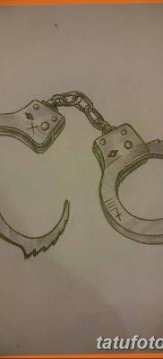 фото тату наручники от 25.06.2018 №048 — tattoo handcuffs — tatufoto.com