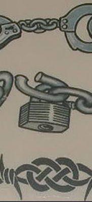 фото тату наручники от 25.06.2018 №089 — tattoo handcuffs — tatufoto.com