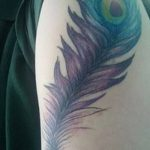 фото тату перо павлина от 26.06.2018 №084 - tattoo peacock feather - tatufoto.com