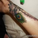 фото тату перо павлина от 26.06.2018 №128 - tattoo peacock feather - tatufoto.com