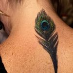 фото тату перо павлина от 26.06.2018 №131 - tattoo peacock feather - tatufoto.com