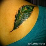 фото тату перо павлина от 26.06.2018 №151 - tattoo peacock feather - tatufoto.com