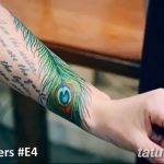 фото тату перо павлина от 26.06.2018 №153 - tattoo peacock feather - tatufoto.com
