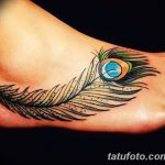 фото тату перо павлина от 26.06.2018 №160 - tattoo peacock feather - tatufoto.com