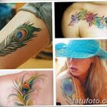фото тату перо павлина от 26.06.2018 №208 - tattoo peacock feather - tatufoto.com