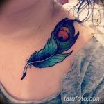 фото тату перо павлина от 26.06.2018 №209 - tattoo peacock feather - tatufoto.com