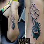фото тату перо павлина от 26.06.2018 №212 - tattoo peacock feather - tatufoto.com
