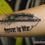 фото тату перо павлина от 26.06.2018 №244 - tattoo peacock feather - tatufoto.com