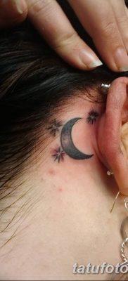 фото тату полумесяц со звездой от 26.06.2018 №001 – tattoo crescent with a – tatufoto.com