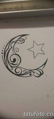 фото тату полумесяц со звездой от 26.06.2018 №004 – tattoo crescent with a – tatufoto.com