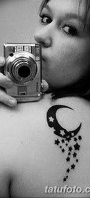 фото тату полумесяц со звездой от 26.06.2018 №007 – tattoo crescent with a – tatufoto.com