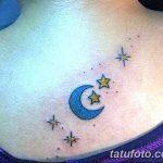 фото тату полумесяц со звездой от 26.06.2018 №024 - tattoo crescent with a - tatufoto.com