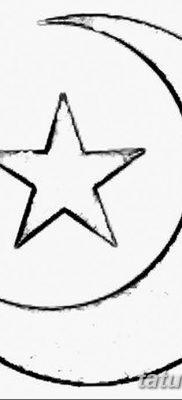 фото тату полумесяц со звездой от 26.06.2018 №025 – tattoo crescent with a – tatufoto.com