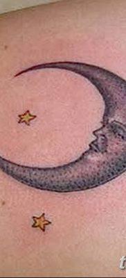 фото тату полумесяц со звездой от 26.06.2018 №029 – tattoo crescent with a – tatufoto.com