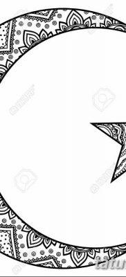 фото тату полумесяц со звездой от 26.06.2018 №033 – tattoo crescent with a – tatufoto.com