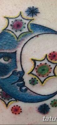 фото тату полумесяц со звездой от 26.06.2018 №040 – tattoo crescent with a – tatufoto.com