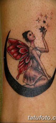 фото тату полумесяц со звездой от 26.06.2018 №044 – tattoo crescent with a – tatufoto.com