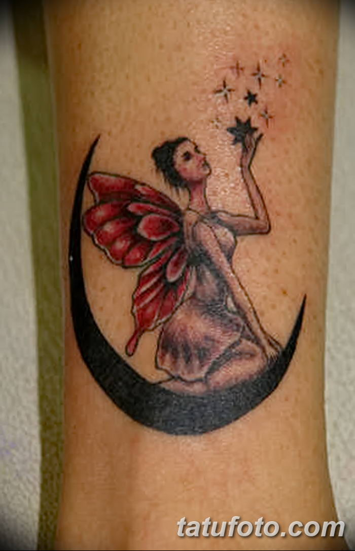 фото тату полумесяц со звездой от 26.06.2018 №044 - tattoo crescent with a - tatufoto.com