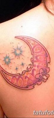 фото тату полумесяц со звездой от 26.06.2018 №045 – tattoo crescent with a – tatufoto.com