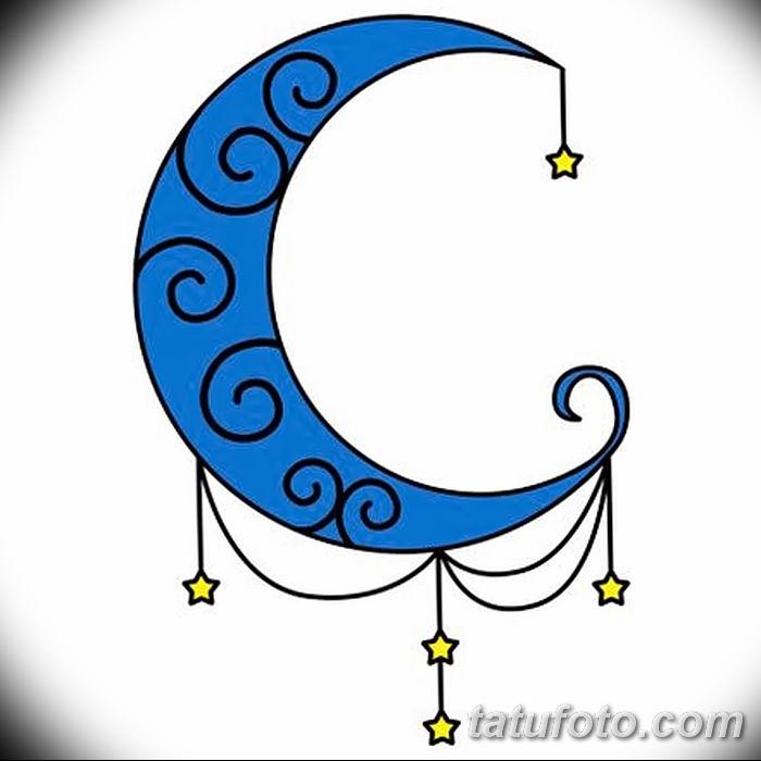 фото тату полумесяц со звездой от 26.06.2018 №048 - tattoo crescent with a - tatufoto.com