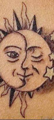 фото тату полумесяц со звездой от 26.06.2018 №049 – tattoo crescent with a – tatufoto.com