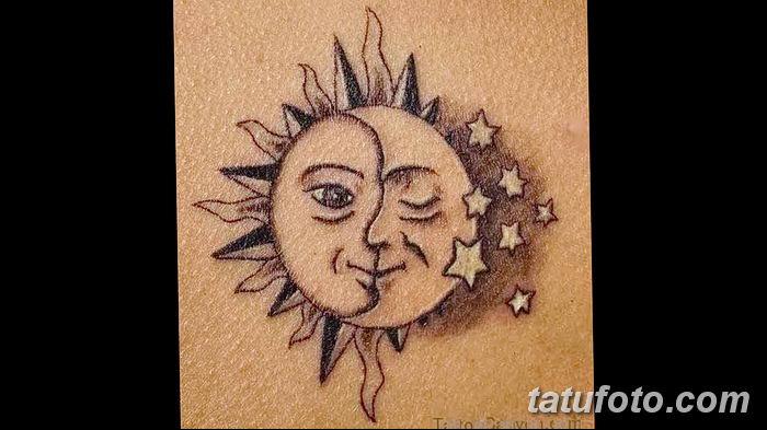 фото тату полумесяц со звездой от 26.06.2018 №049 - tattoo crescent with a - tatufoto.com