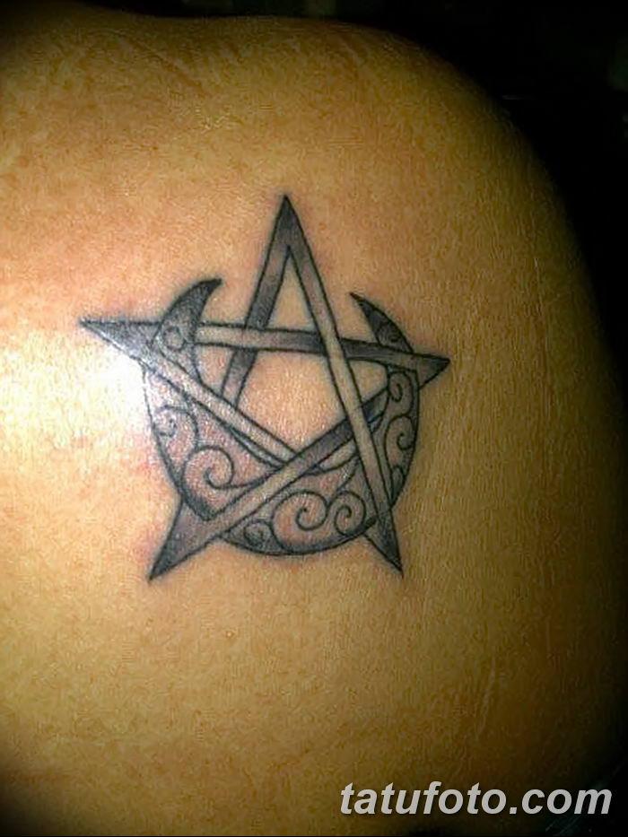 фото тату полумесяц со звездой от 26.06.2018 №057 - tattoo crescent with a - tatufoto.com