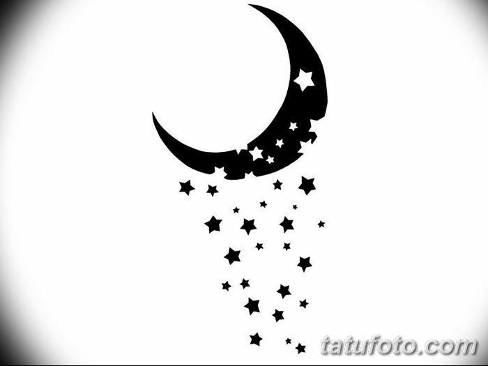 фото тату полумесяц со звездой от 26.06.2018 №060 - tattoo crescent with a - tatufoto.com
