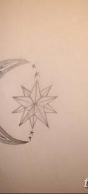 фото тату полумесяц со звездой от 26.06.2018 №062 – tattoo crescent with a – tatufoto.com