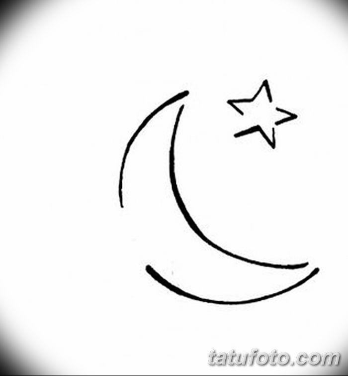 фото тату полумесяц со звездой от 26.06.2018 №063 - tattoo crescent with a - tatufoto.com