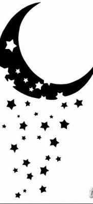 фото тату полумесяц со звездой от 26.06.2018 №065 – tattoo crescent with a – tatufoto.com