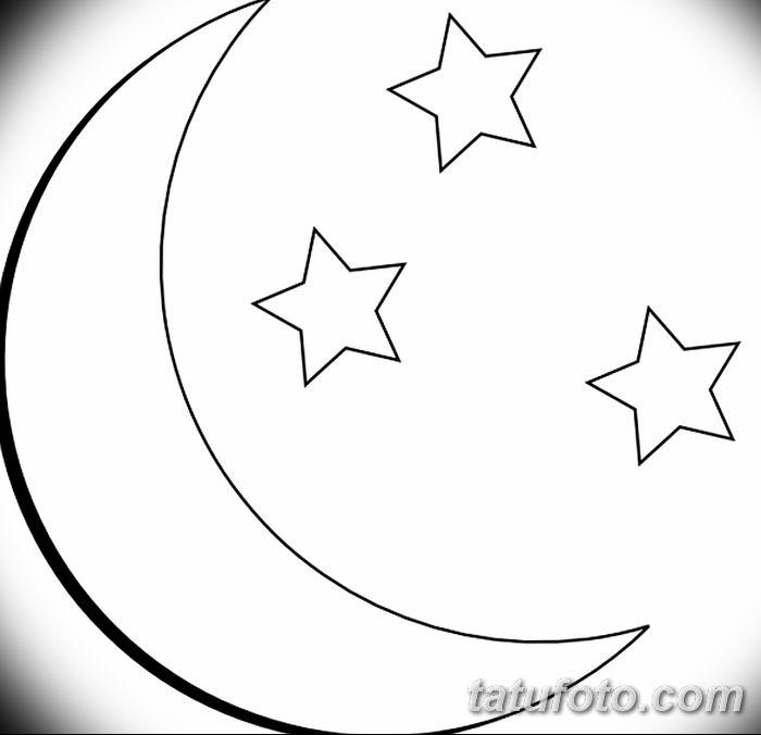фото тату полумесяц со звездой от 26.06.2018 №066 - tattoo crescent with a - tatufoto.com