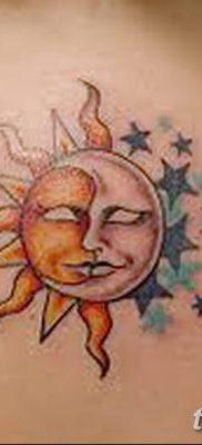 фото тату полумесяц со звездой от 26.06.2018 №075 – tattoo crescent with a – tatufoto.com