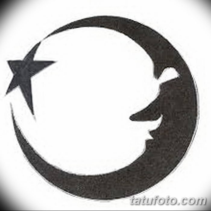 фото тату полумесяц со звездой от 26.06.2018 №076 - tattoo crescent with a - tatufoto.com